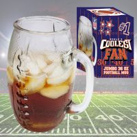 Coolest Fan Football Glass Mug - Gifts For Men - Holiday Gifts Mart