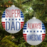 Super Dad Ornament - Dad Gifts - Holiday Gifts Mart