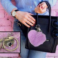 Grandma Plush Heart Key Chain - Grandma Gifts - Holiday Gifts Mart