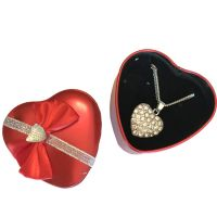Bling Heart Necklace in Heart Tin - Jewelry Gifts - Holiday Gifts Mart
