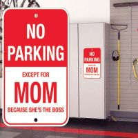 No Parking Except Mom Sign - Mom Gifts - Holiday Gifts Mart