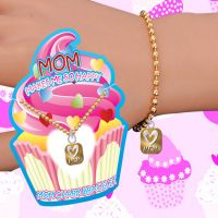 Mom Makes Me Happy Charm Bracelet - Mom Gifts - Holiday Gifts Mart