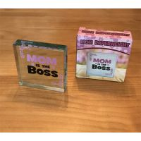 Mom is Boss Paperweight - Mom Gifts - Holiday Gifts Mart