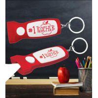 #1 Teacher Flashlight Key Chain - Teacher Gifts - Holiday Gifts Mart