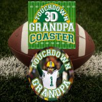 Touch Down Grandpa 3D Coaster - Grandpa Gifts - Holiday Gifts Mart