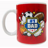 Dad Mug with Sports Theme - Dad Gifts - Holiday Gifts Mart